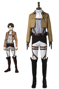 Anime Attack On Titan Survey Corps Levi Rivaille Rival Ackerman Cosplay Costume With Boots