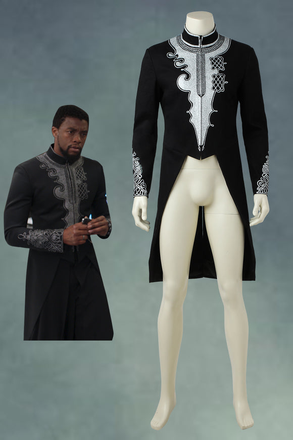 2018 Black Panther T'Challa Cosplay Coat
