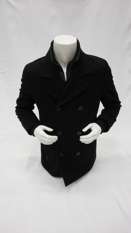 GUESS TEXTURE WOOL TRENCH COAT GUESS
