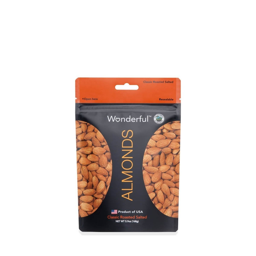 WONDERFUL CLASSIC ROASTED SALTED ALMOND 168G