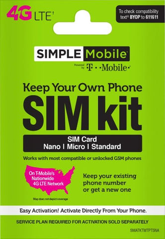Simple Mobile - Keep Your Own Phone SIM Card Kit