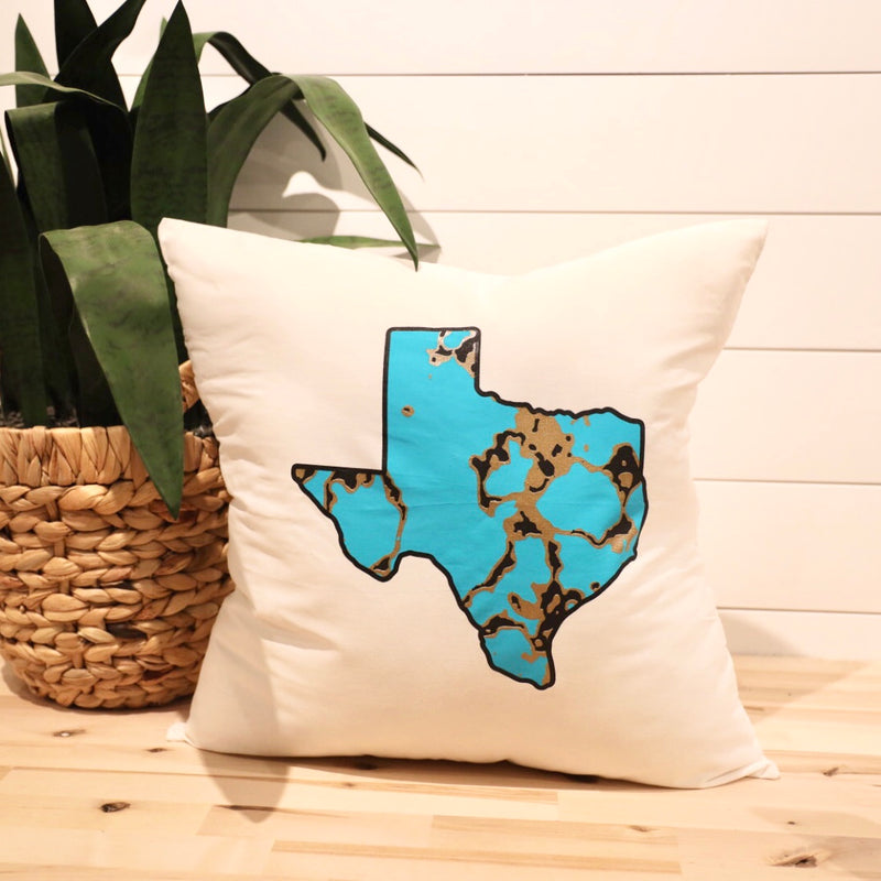 Turquoise TX Rock Pillow