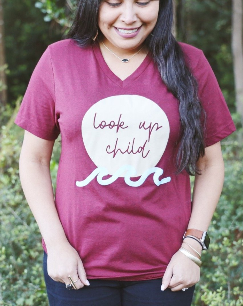 Look Up Child (Maroon)