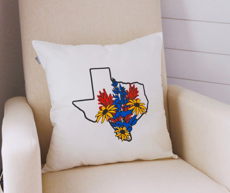 Wildflower TX Pillow