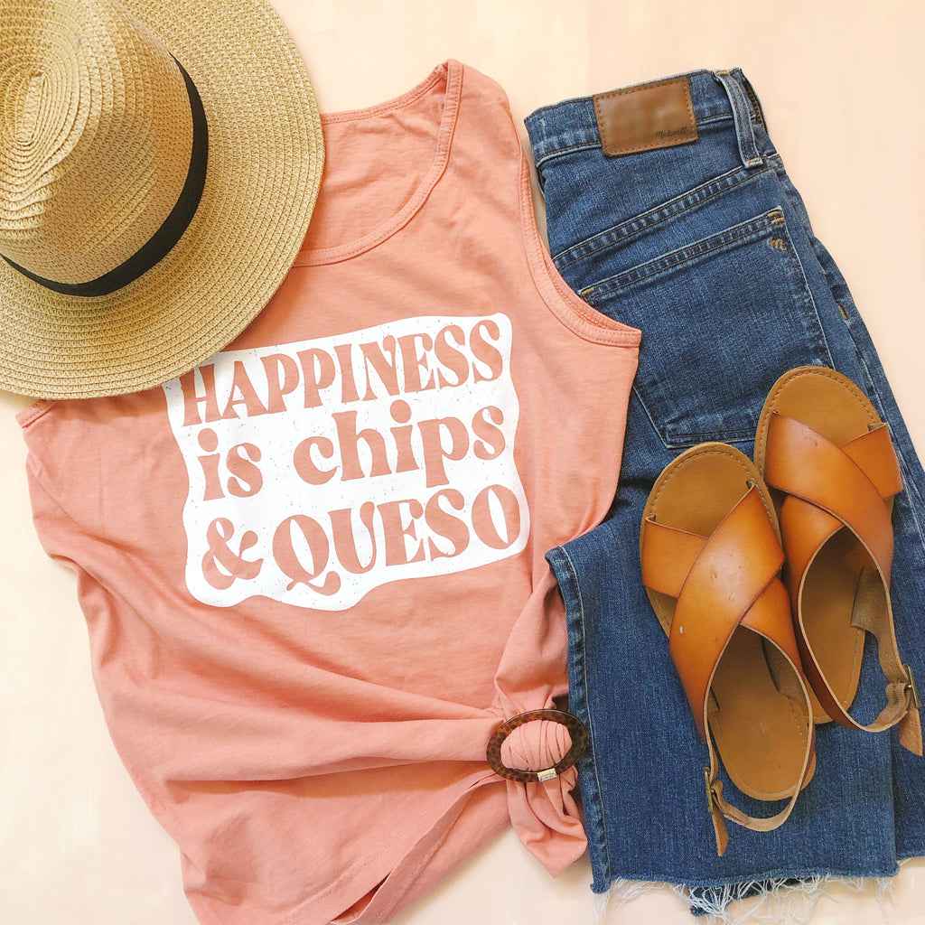 Happiness is Chips and Queso Tank