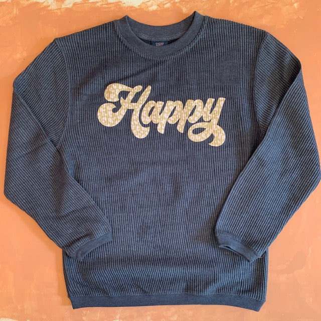 Happy Corded Pullover - Sweet Tees + happy things