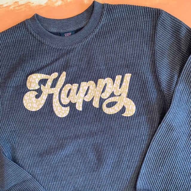 Happy Corded Pullover