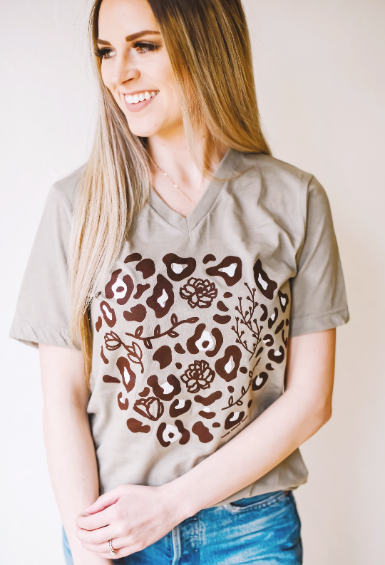 Floral Leopard Tee - Sweet Tees + happy things