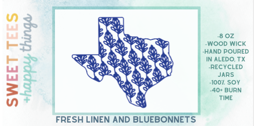 Fresh Linen & Bluebonnets Candle