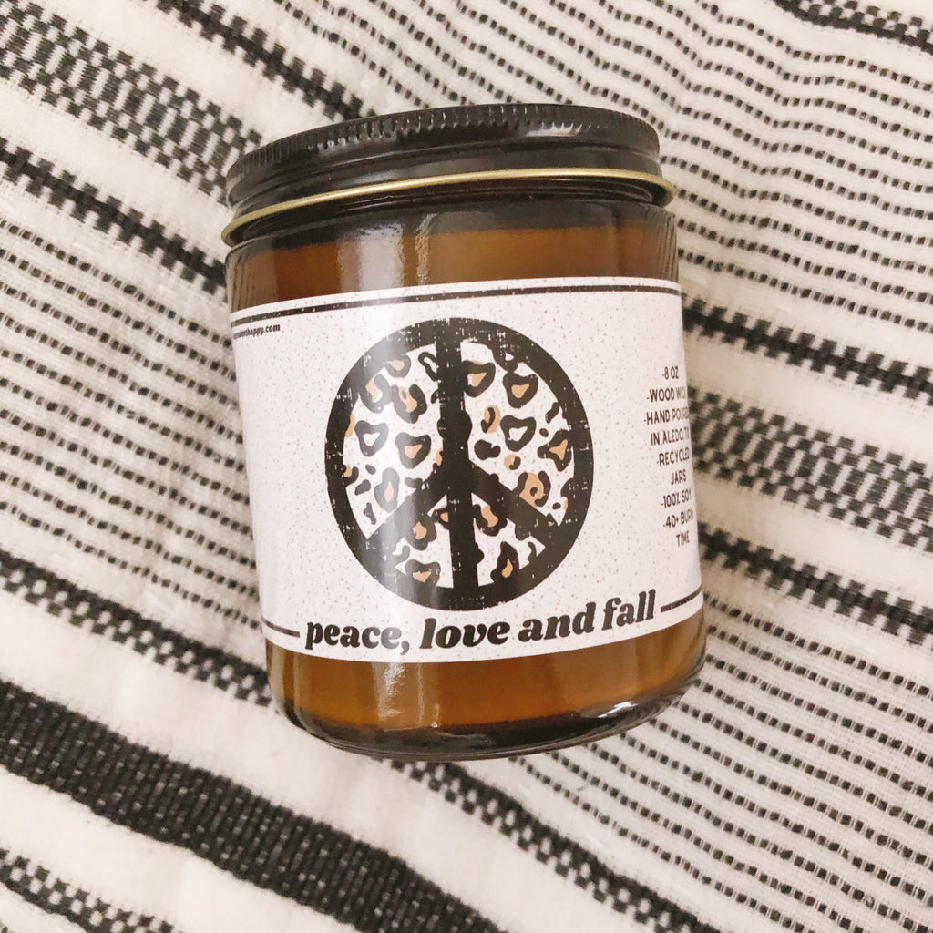 Peace, Love and Fall Candle