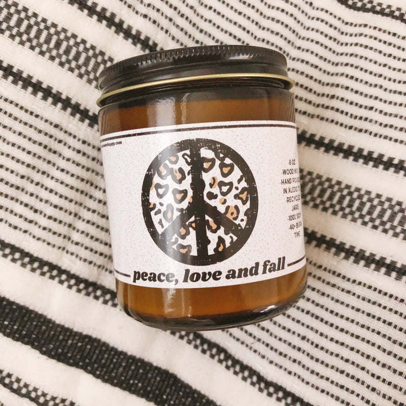 Peace, Love and Fall Candle - Sweet Tees + happy things