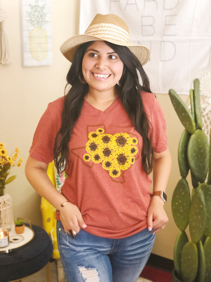 Fall Sunflower (size small) - Sweet Tees + happy things