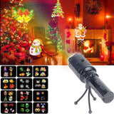 Holiday Projector Light Handheld Flashlight