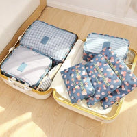 Six-Piece Set of Travel Organiser Storage Bags - Four Designs Available - Groupy Buy