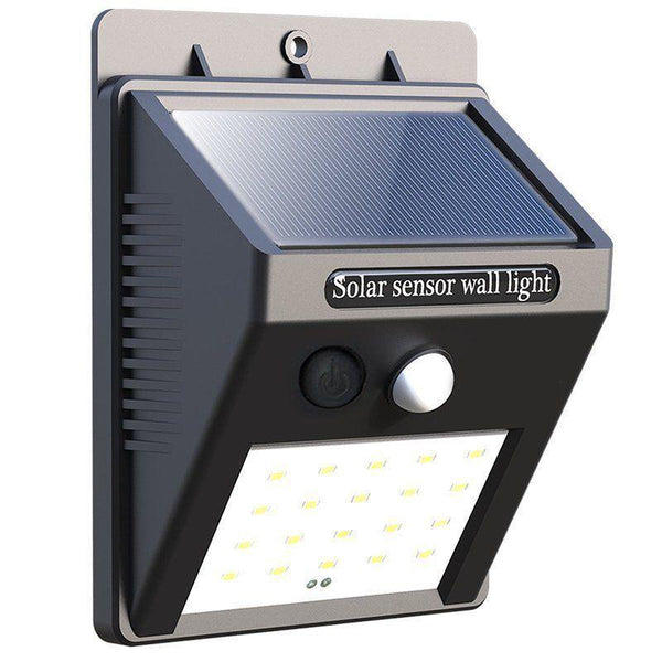 Solar Powered Security Light With Motion Sensor
