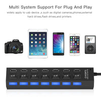 7-Port Universal USB Charging Stations