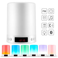 Bluetooth Speaker Touch Control Color LED Night Light