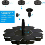 Solar Powered Fountain Pump wi/ different Spray Pattern Heads for Pool, Garden, Pond - Groupy Buy