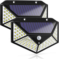 Four-Sided 100LED Solar Power Wall Light