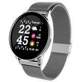 W8 stainless steel watchband BT 4.0 Pedometer Heart Rate Reminder Sports Smart Bracelet - Groupy Buy