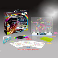 3D Painting Magic Glow Pad with Glasses