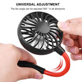 Mini USB Portable Neck Fan with Light