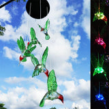 Hummingbird Color-Changing LED Solar Wind Chime