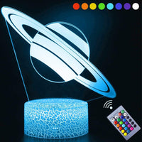 Solar System 3D Optical Illusion Lamp