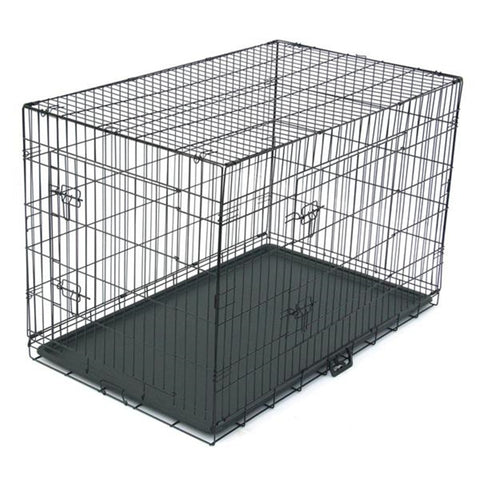 3 Size Pet Kennel Cat Dog Folding Steel Crate Animal Playpen