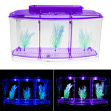 Senzeal Transparent Acrylic Fighting Fish Tank