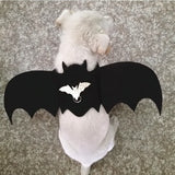 2019 New Halloween Pet Dog Costumes Bat Wings Vampire Black
