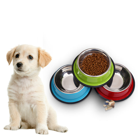 Pet Dog Bowl Stainless Steel Pet Food Feeder for Small/ Medium Dogs/Cats