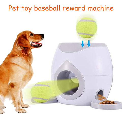 Pet Dog Toy Interactive Fetch Ball Tennis Launcher