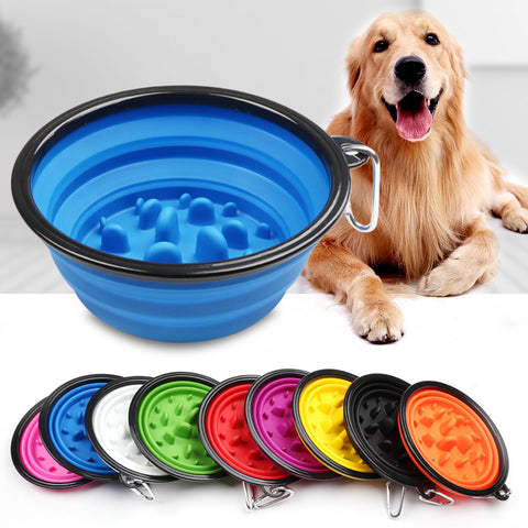 Upgrade Travel Collapsible Silicone Pets Bowl
