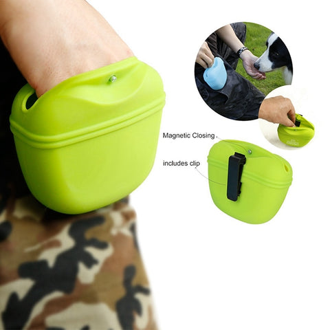 Pet Silicone Portable Magnetic Dog Treat Waist Bags