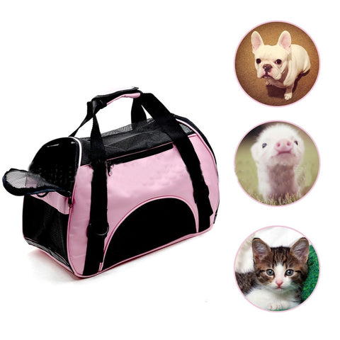Portable Dog Cat Carrier Breathable Mesh Bag Pet Backpack