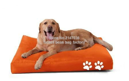 two paw printed bean bag dog beds