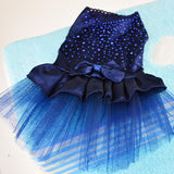 Pet Cat Dog Tutu Dress Rhinestone Bow kno