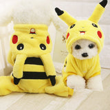 Cute Pikachu Design Winter Puppy Cosplay Costume Dog Cat Hoodie