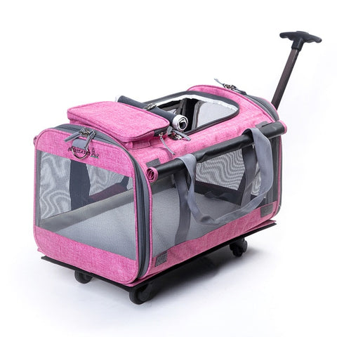 10kg Breathable Pet Nest carrier Backpack Dog cat Portable Trolley