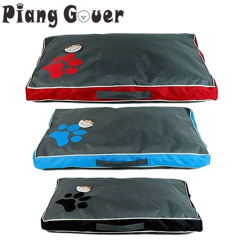 Comfortable Big Dog Bed Soft Cushion Kennel Paw Design