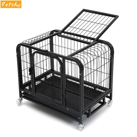 Large Pet Dog Cage House Foldable Stable Iron Dogs Crate