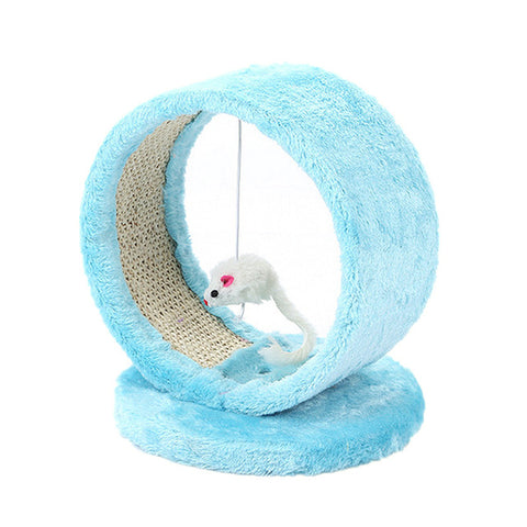 Cat Scratcher Tree Pet Play Toy Mouse