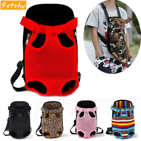 Adjustable Dog Backpack Kangaroo Breathable Front Puppy Dog Carrier