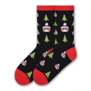 Penguin Christmas Tree Crew Socks
