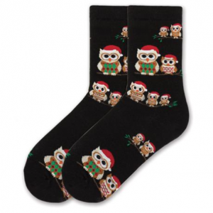 Holiday Owls Crew Sock
