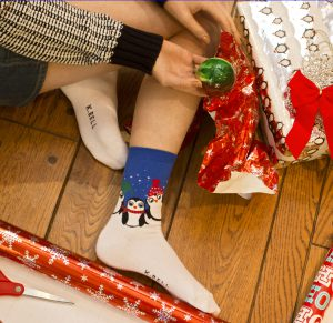 Holiday Penguins Sock