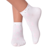 Women's Rhinestone Pink Ribbon Ankle Socks