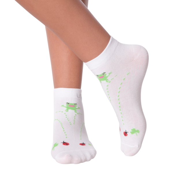 Women's Lady Luck with Rhinestones Ankle Socks