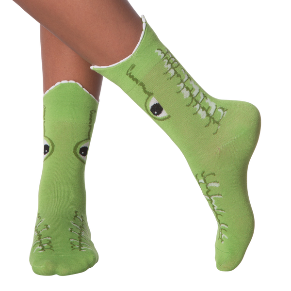 Women's Wide Mouth Alligator Crew Socks
